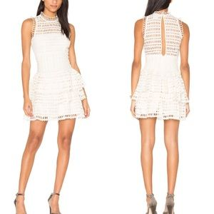 FP One Tiered Ivory Eyelet Dress Size S